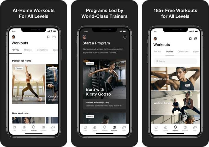 nike training club iphone and ipad weight loss app screenshot