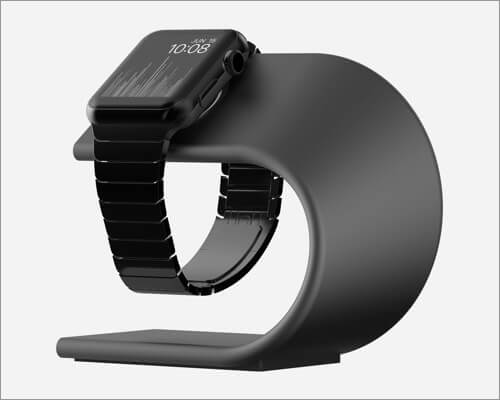 nomad aluminum charging stand for apple watch