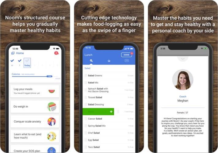 noom iphone and ipad weight loss app screenshot