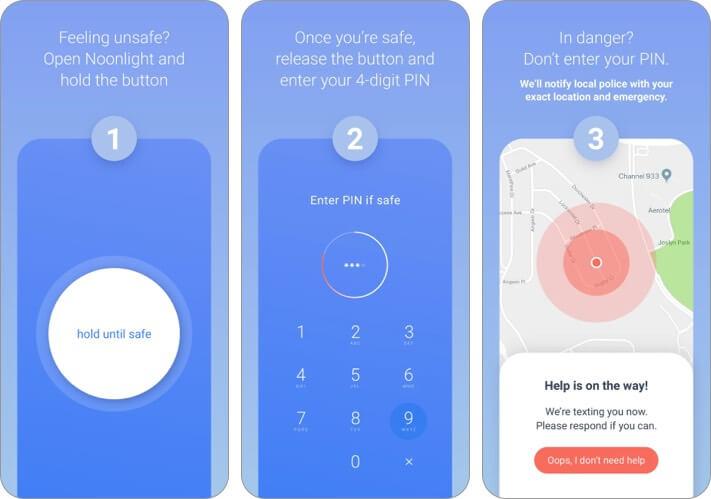 noonlight iphone and ipad app for women screenshot
