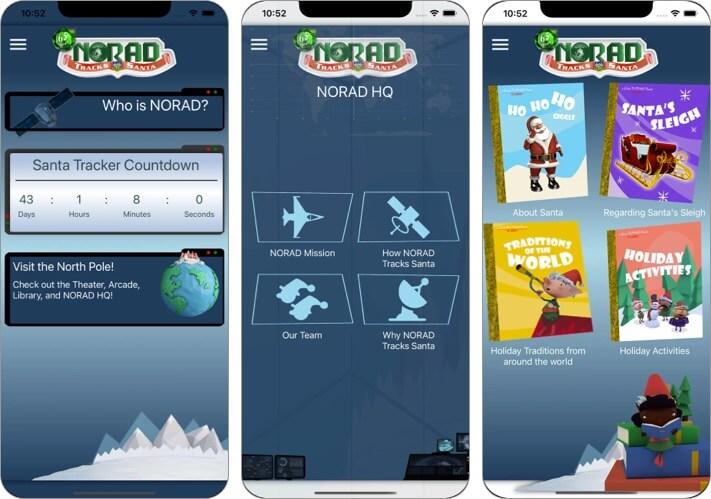NORAD Tracks Santa Claus iPhone and iPad Christmas App Screenshot