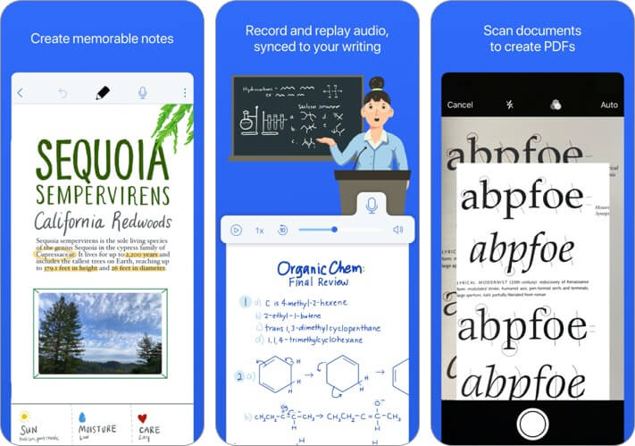 notability iphone and ipad presentation app screenshot