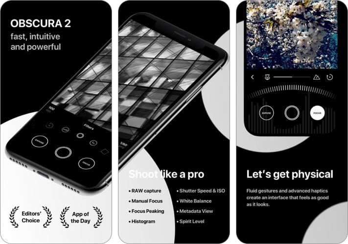 obscura camera iphone app screenshot