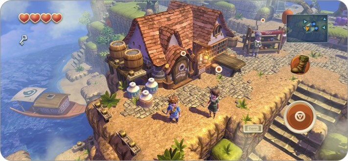 Oceanhorn iPhone and iPad RPG Game Screenshot