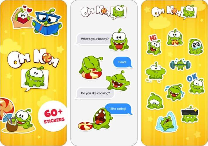 Om Nom Stickers for iPhone and iPad