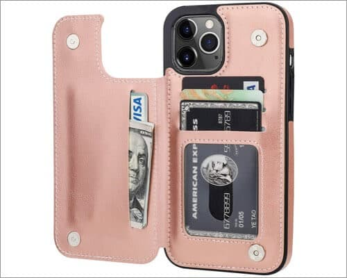 ONETOP Wallet Case with Kickstandfor iPhone 12 Mini and 12 Pro Max
