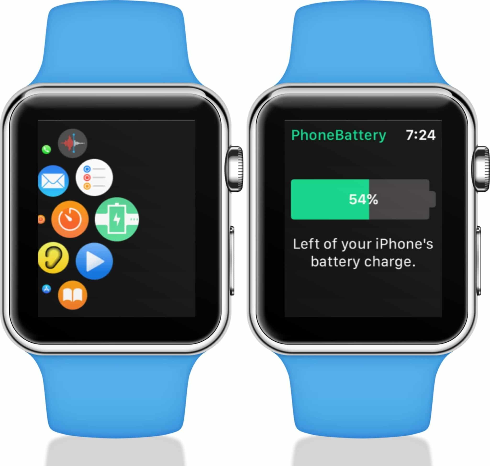 open app to see iphone battery life on apple watch