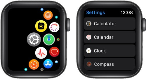 Open Apple Watch Settings App and Tap on Clock