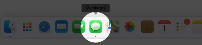 open messages app on mac running macos big sur