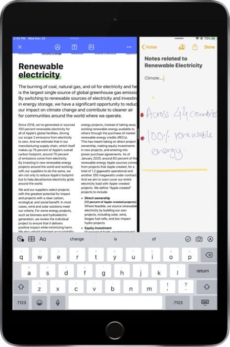 Open PDFelement Pro in Split View with Another App on iPad
