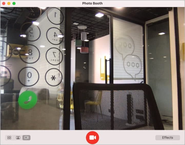 Open Photo Booth on Mac and Record a Video