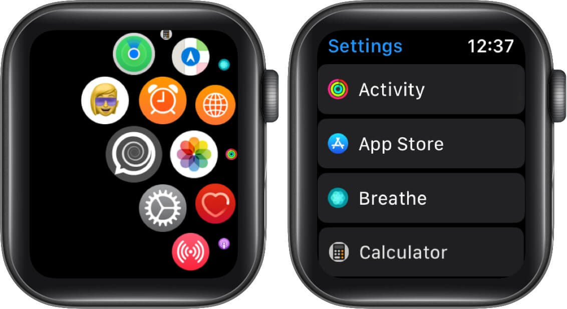 open settings and tap app store on apple watch