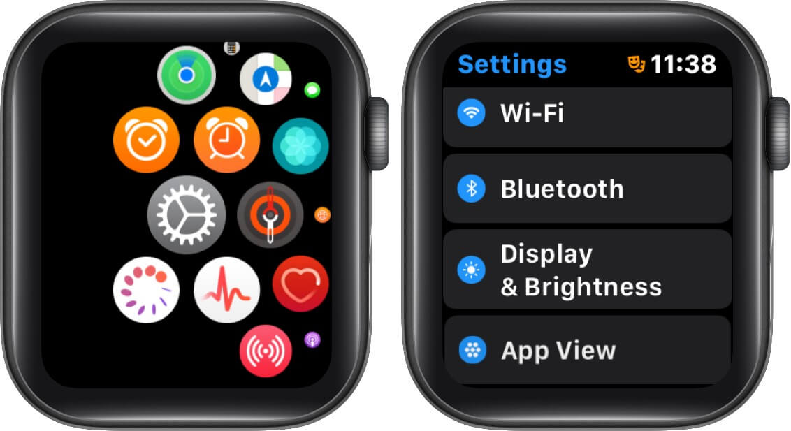 open settings and tap on display & brightness on apple watch