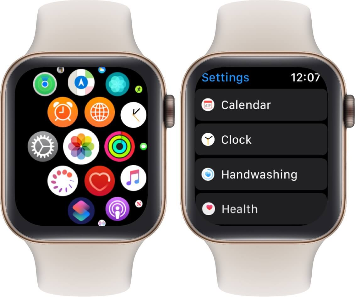 open settings scroll down and tap handwashing on apple watch