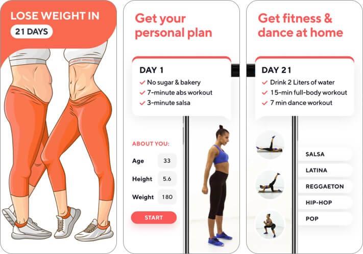organic weight loss iphone and ipad app screenshot