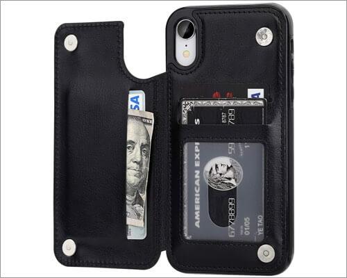 ot onetop iphone xr wallet case