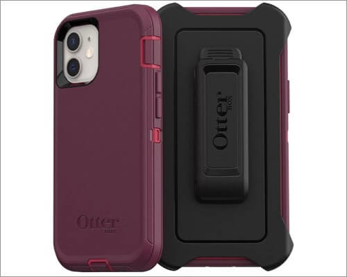 OtterBox Defender Series Belt Clip Case for iPhone 12 Pro Max and 12 Mini