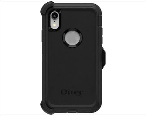 otterbox defender series iphone xr belt clip case