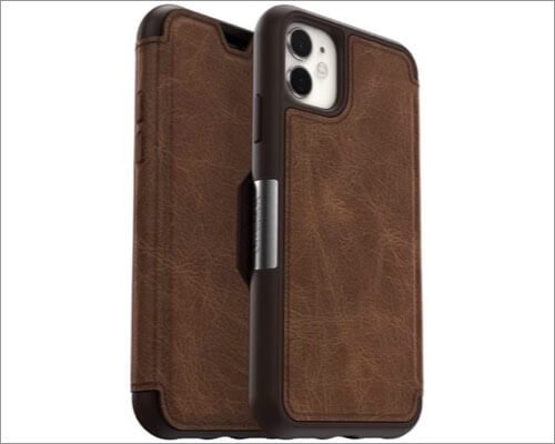 otterbox strada series leather case for iphone 11