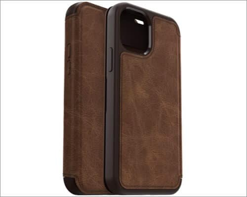 OtterBox Strada Series Leather Case for iPhone 12 and 12 Pro