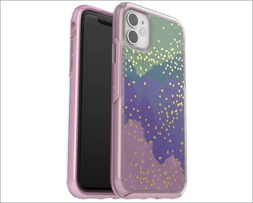 otterbox symmetry clear series designer case for iphone 11, 11 pro and 11 pro max