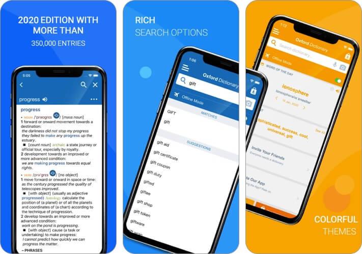 Oxford Dictionary of English iPhone and iPad App Screenshot
