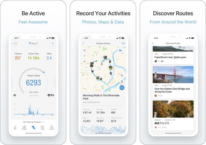 pacer iphone health app screenshot