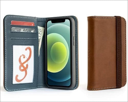 Pad & Quill Bella Fino Leather Wallet Case for iPhone 12 Mini