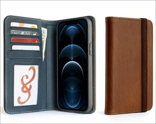 Pad & Quill Bella Fino Leather Wallet Case for iPhone 12 Pro Max