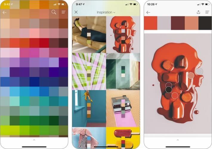PANTONE Studio iPhone and iPad Interior Design App Screenshot