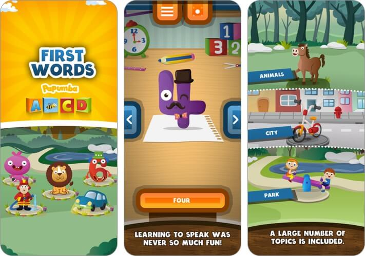 papumba first words for baby and toddlers iphone and ipad app screenshot