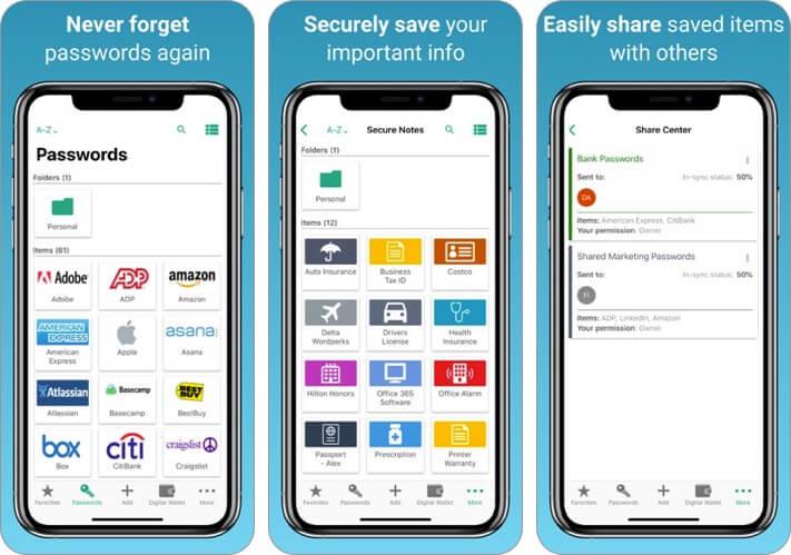 password boss iphone app screenshot
