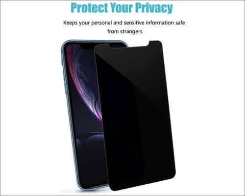 pehael iphone xr privacy screen protector