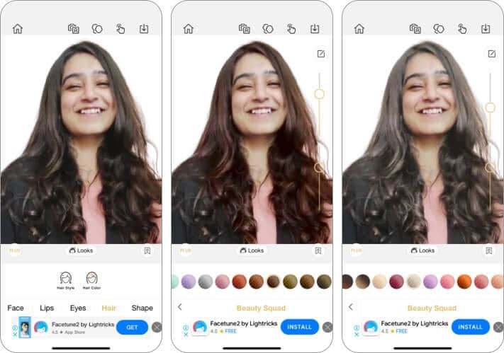 perfect365 haristyling app for iPhone and iPad screenshot
