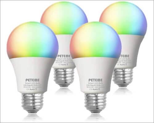 Peteme Multi Colored Smart Bulbs for Apple Homekit