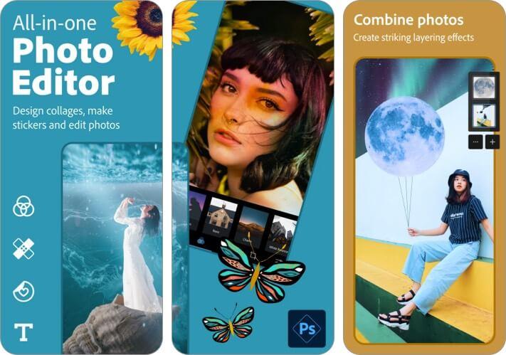 Photoshop Express Photo Editor iPhone and iPad App Screenshot
