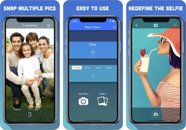 phototimer iphone self timer camera app screenshot
