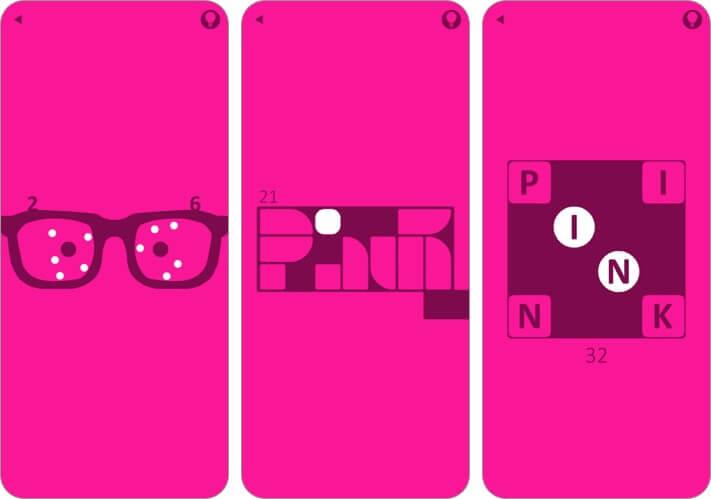 pink iphone and ipad game screenshot