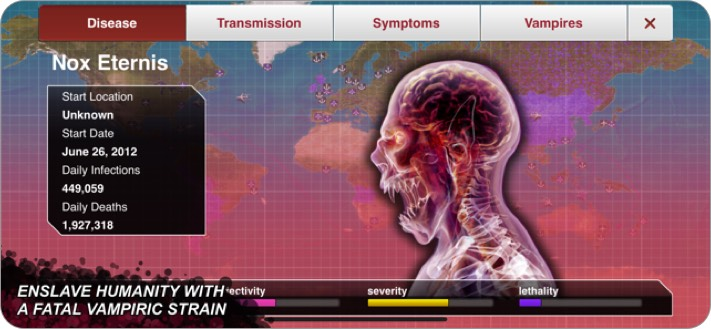 plague inc simulation iphone game screenshot