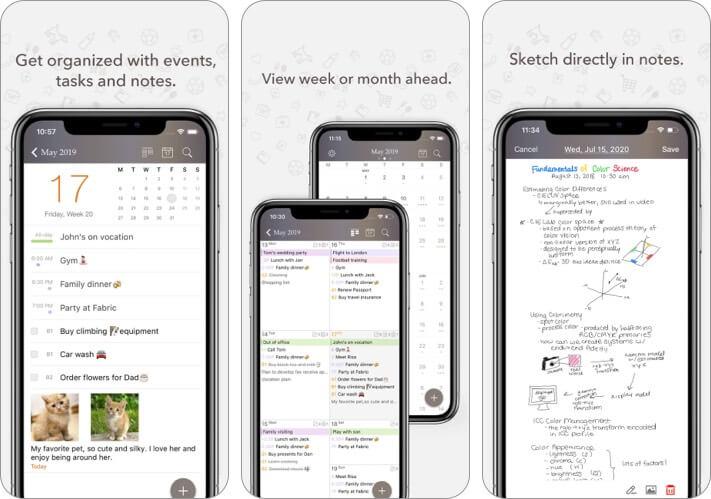 Planner Pro iPhone and iPad Calendar App Screenshot