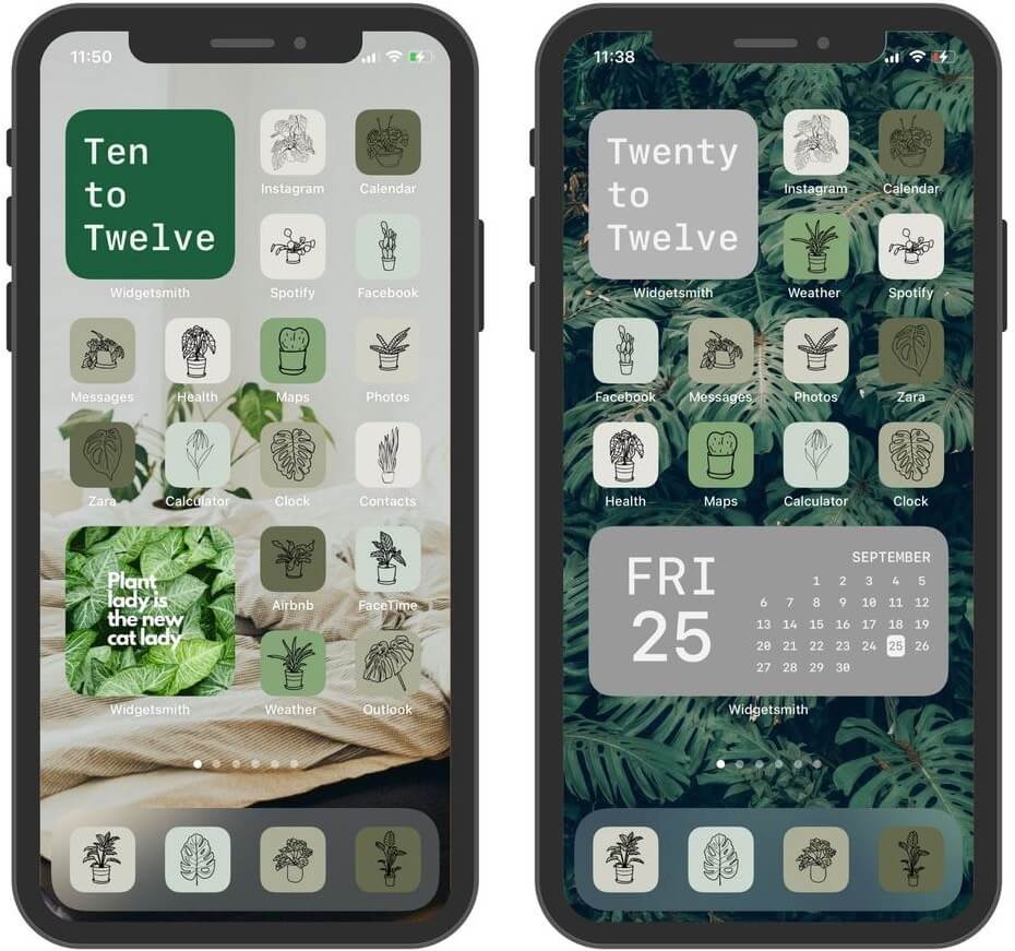 Plant Theme App Icons Bundle für iPhone und iPad
