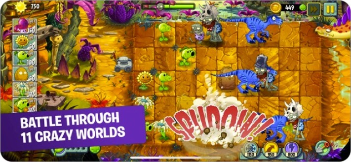 plants vs. zombies 2 iphone and ipad tower defense game screenshot