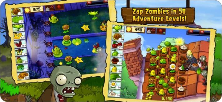 Plants vs. Zombies iPhone and iPad Game Screenshot