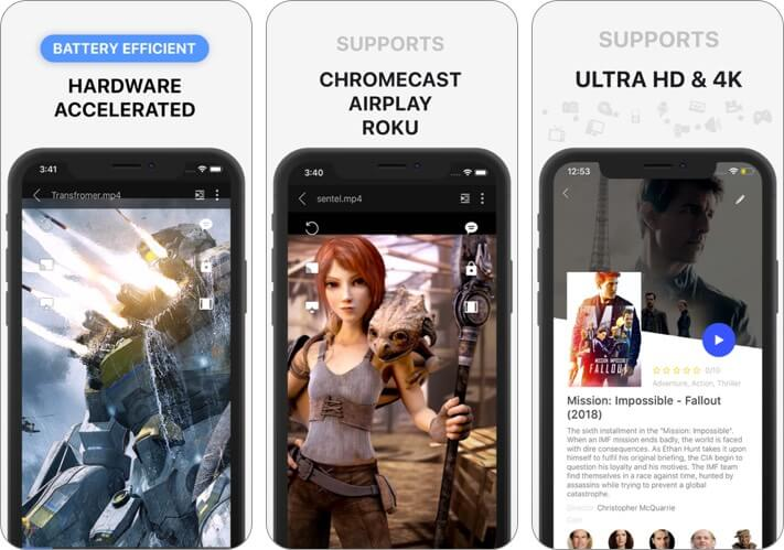 playerxtreme iphone and ipad video player app screenshot