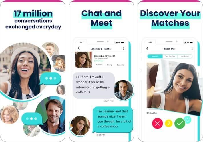 plenty of fish iphone dating app screenshot