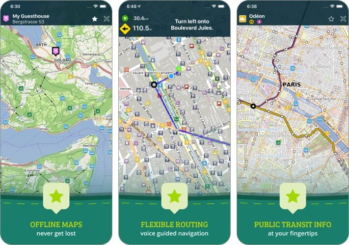 pocket earth maps iphone and ipad app screenshot