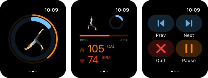 pocket yoga apple watch health app screenshot