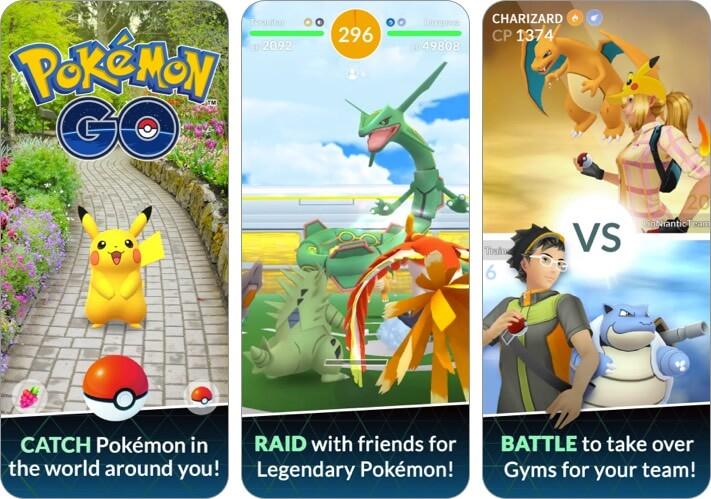 pokemon go iphone game screenshot