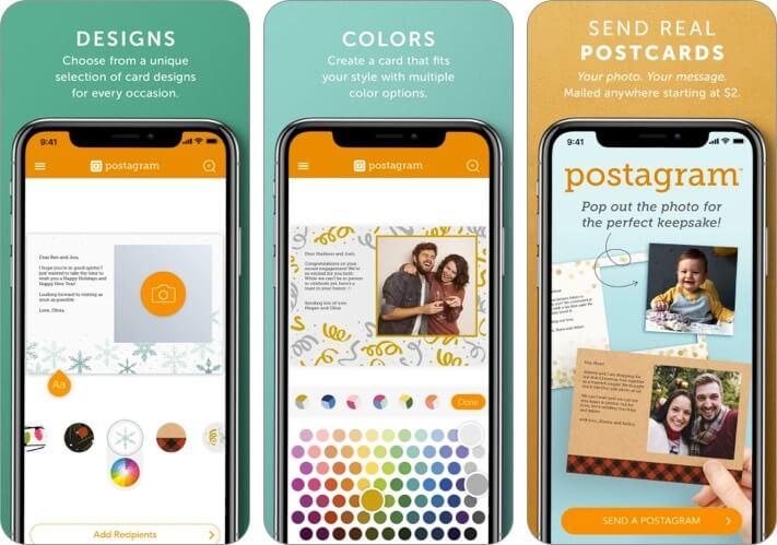 Postagram iPhone and iPad Postcard App Screenshot