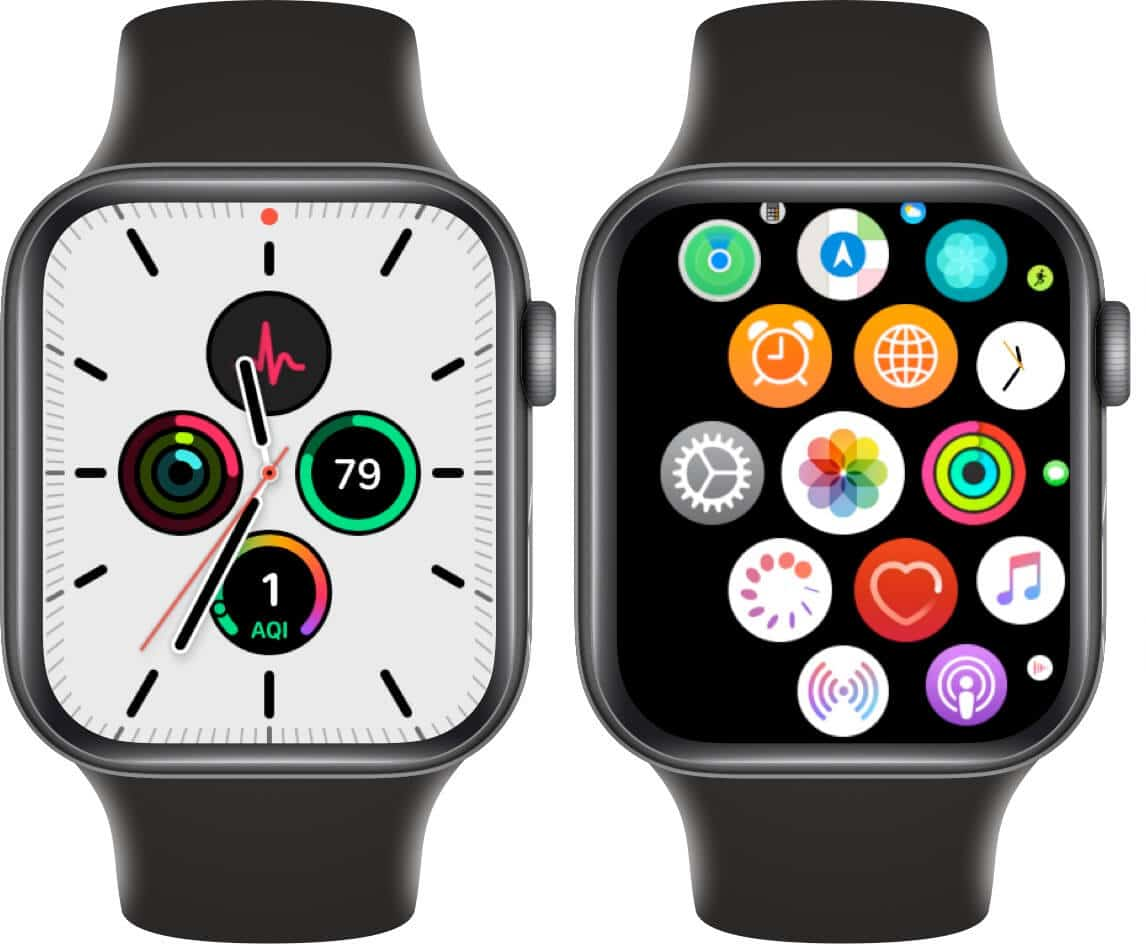 press digital crown and open settings on apple watch